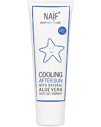 NAIF Baby Care Cooling After Sun Gel, 100 ml - Dermatologically tested Sun Screen