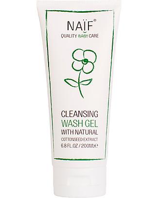 NAIF Baby Care Natural Baby Cleansing Wash Gel - No Nasties (No SLES/SLS, Parabens, PEG, Mineral Oils) Baby Bath Wash and shampoo