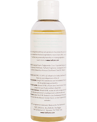 NAIF Baby Care Natural Milky Bath Oil With Cottonseed Olil and Chamomille - No Nasties (No SLES/SLS, Parabens, PEG, Mineral Oils) Body Lotions And Oils