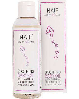NAIF Baby Care Natural Soothing Baby Massage Oil - No Nasties (No SLES/SLS, Parabens, PEG, Mineral Oils) Baby Creams and Oils