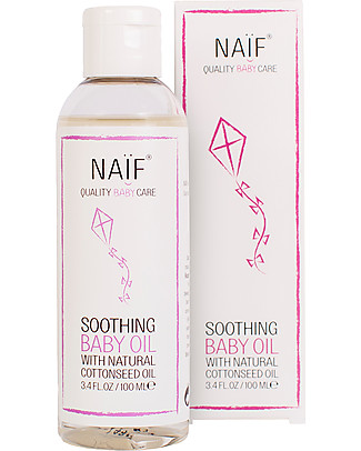 NAIF Baby Care Natural Soothing Baby Massage Oil – No Nasties (No SLES/SLS, Parabens, PEG, Mineral Oils) Body Lotions And Oils