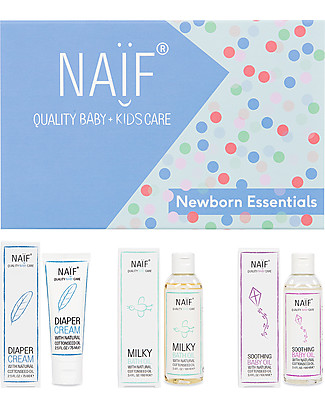 NAIF Baby Care Newborn Essentials Gift Set - Diaper Cream, Bath Oil and Baby Oil  Baby Creams and Oils