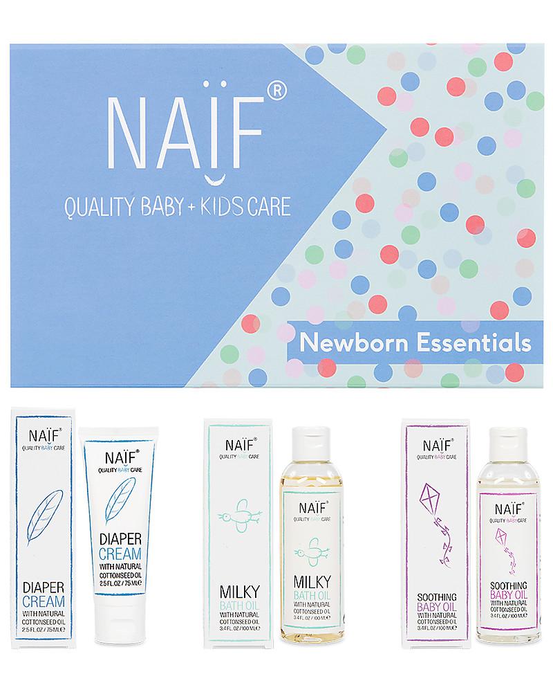 NAIF Baby Care Newborn Essentials Gift Set - Diaper Cream, Bath Oil ...