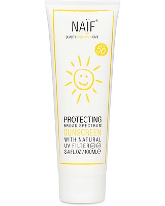 NAIF Baby Care Protecting Sunscreen SPF 50+, 100 ml – Allergy-free perfume; Protects against UVA and UVB rays Sun Screen