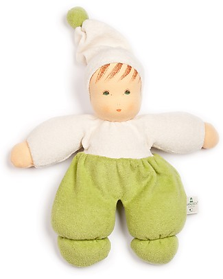 Nanchen Natur Nanchen Green Doll, 26 cm - Handcrafted Dolls