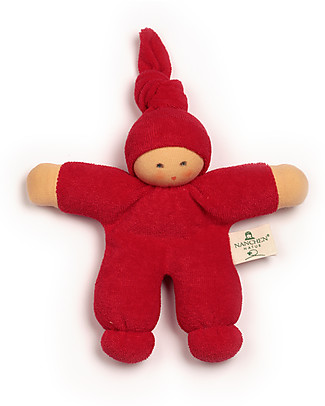 Nanchen Natur Pimpel Red Doll, 17 cm - Organic Cotton and Virgin Wool Dolls