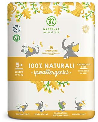 Nappynat Biodegradable Disposable Diapers Watermelon Print, Size Junior 5+, 16 pieces - 18-30 Kg Biodegradable Nappies
