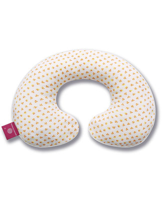 Nati Naturali 12-36 Months Neck Collar Cover - Orange Flowers - 100% Organic Cotton! Travel Pillows