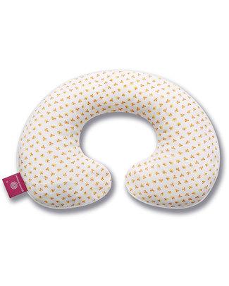Nati Naturali 12-36 Months Neck Collar Cover - Orange Flowers - 100% Organic Cotton! Travel Pillows