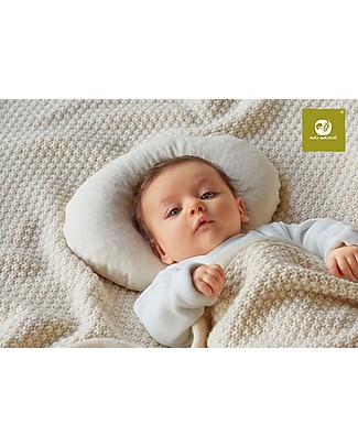 Nati Naturali Anatomical Round Head Pillow for Babies until 4 months - Spelt Husk and Organic Cotton Pillows
