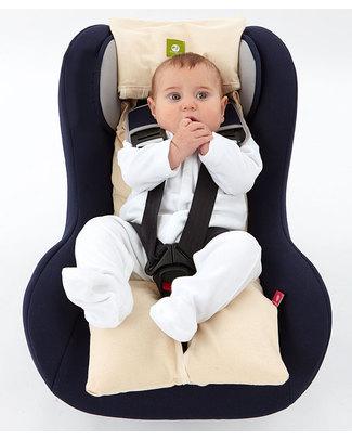 Nati Naturali Child's Car Seat Mattress - Barley Husk Padding - Removable 100% Natural Cotton Lining Car Seat Accessories