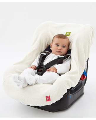 Nati Naturali Child's Car Seat Cover (9-18kg) - 100% Natural Terry Cotton - Compatible With All Models! Car Seat Accessories