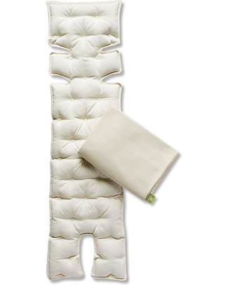 Nati Naturali Child's Car Seat Mattress - Barley Husk Padding - Removable 100% Natural Cotton Lining Car Seat Accessories