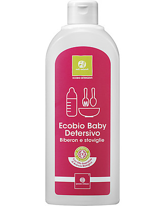 Nati Naturali EcoBio Baby Washing-Up Liquid for Baby Bottles and Dishes, 500 ml - Gentle on sensitive skin! Detergents