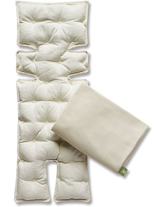 Nati Naturali Infant Car Seat Mattress - Barley Husk Padding - Removable 100% Natural Cotton Lining Stroller Accessories