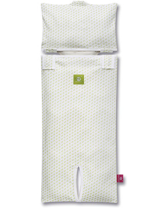 Nati Naturali Infant Car Seat Mattress Cover - Green hearts - 100% Organic Cotton! Stroller Accessories