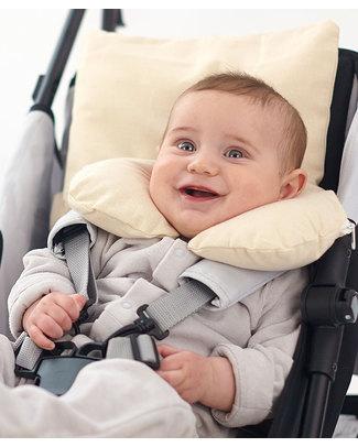 Nati Naturali Infant Neck Collar 12 - 36 Months - Barley Husk Padding - 100% Natural Cotton Lining Travel Pillows