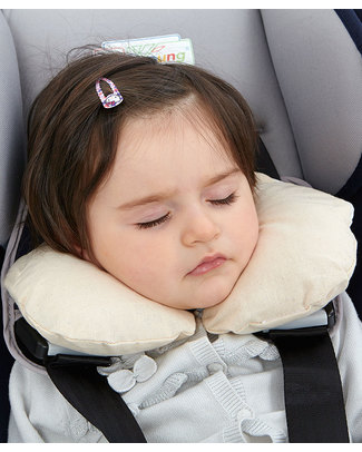 Nati Naturali Infant Neck Collar 36 + Months - Barley Husk Padding - 100% Natural Cotton Lining Travel Pillows