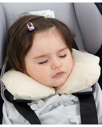 Nati Naturali Infant Neck Collar 36 + Months - Barley Husk Padding - 100% Natural Cotton Lining Travel Pillows