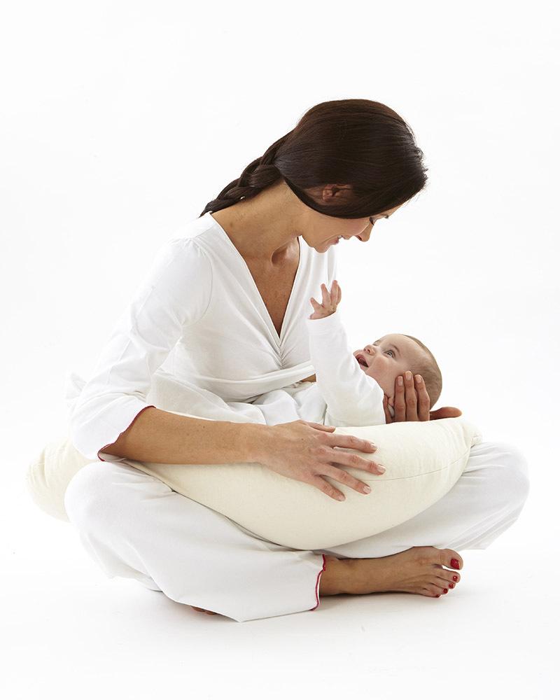 Nati naturali natural breastfeeding pillow removable cover natural spelt wheat husk & organic cotton natural grain nursing pillows 5514 zoom