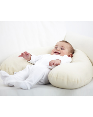 Nati Naturali Natural Breastfeeding Pillow + removable cover - Natural Spelt Wheat Husk & Organic Cotton Natural Grain Nursing Pillows