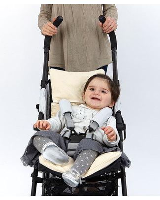 Nati Naturali Stroller Mattress - Barley Husk Padding - Removable 100% Natural Cotton Lining Stroller Accessories