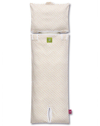 Nati Naturali Stroller Mattress Cover - Orange Flowers - 100% Organic Cotton! Stroller Accessories