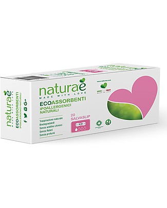 Naturaè Eco-friendly Panty liners, Biodegradable - Pack of 20 Sanitary Napkins and Pantyliners