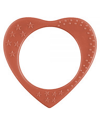 Nibbling Bracelets/Teething Heart - Pomegranate - 100% Food Grade Silicone - Fast and Easy to Clean! Teethers