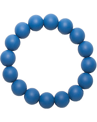 Nibbling Bracelets/Teething Ring - Kew Sapphire - 100% Food Grade Silicone - Fast and Easy to Clean! Teethers