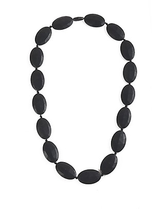 Nibbling Chelsea Teething Necklace - Black - 100% Food Grade Silicone and Breakaway Clasp! Teething Necklaces