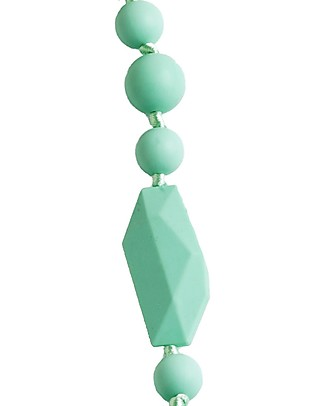 Nibbling Greenwich Teething Necklace - Mint - 100% Food Grade Silicone and Breakaway Clasp! Teething Necklaces