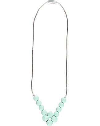 Nibbling Havana Teething Necklace - Mint - 100% Food Grade Silicone and Breakaway Clasp! Teething Necklaces