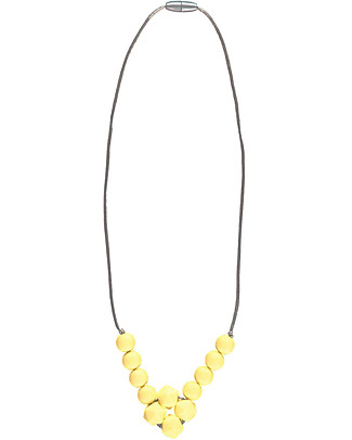 Nibbling Havana Teething Necklace - Yellow - 100% Food Grade Silicone and Breakaway Clasp! Teething Necklaces