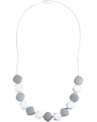 Nibbling Kensington Teething Necklace - Stone - 100% Food Grade Silicone and Breakaway Clasp! Teething Necklaces