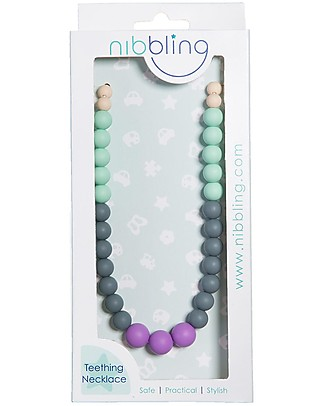 Nibbling Kew Teething Necklace - Sorbet - 100% Food Grade Silicone and Breakaway Clasp! Teething Necklaces