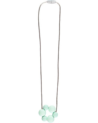 Nibbling Rio Teething Necklace - Mint - 100% Food Grade Silicone and Breakaway Clasp! Teething Necklaces