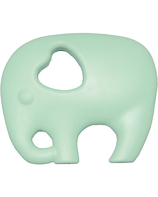 Nibbling Teether & Teething Necklace 2-in-1 - Mint Elephant - 100% Food Grade Silicone Teethers