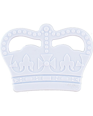 Nibbling Teether Royal Baby - Blue - 100% Food Grade Silicone Teethers