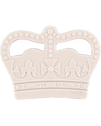 Nibbling Teether Royal Baby - Grigio - 100% Food Grade Silicone Teethers
