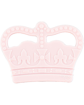 Nibbling Teether Royal Baby - Pink - 100% Food Grade Silicone Teethers