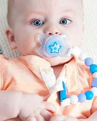 Nibbling Universal Dummy Adapter - Blue - For Flat or Button Style Dummies Dummies & Soothers