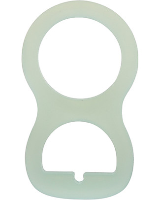 Nibbling Universal Dummy Adapter - Mint - For Flat or Button Style Dummies Dummies & Soothers