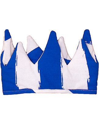 Noé&Zoë Baby Crown, Blue Stripes XL - 100% organic cotton Dressing Up & Role Play