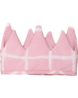 Noé&Zoë Baby Crown, Rose Grid - 100% organic cotton Dressing Up & Role Play