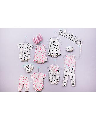 Noé&Zoë Bloomer, Neon Pink Stars - 100% organic cotton Shorts
