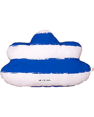 Noé&Zoë Cloud Pillow 35 cm, Blue Stripes XL – 100% organic cotton Cushions
