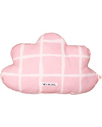 Noé&Zoë Cloud Pillow 35 cm, Rose Grid – 100% organic cotton Cushions