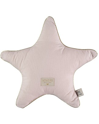 Nobodinoz Aristote Star Cushion, Dream Pink - 40 cm -  Organic cotton Cushions