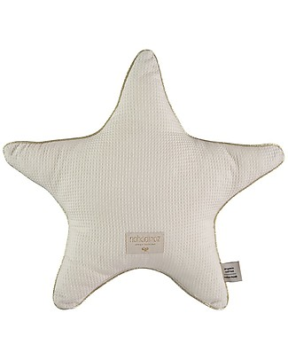 Nobodinoz Aristote Star Cushion, Natural - 40 cm -  Organic cotton Cushions